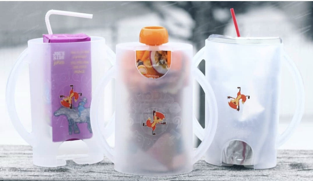 The Flipping Holder for Food & Juice Pouches