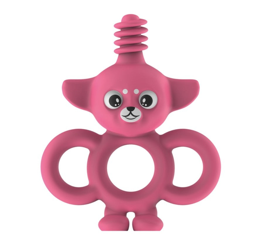 Yummy Buddy Infant Toothbrush/Teether Pink