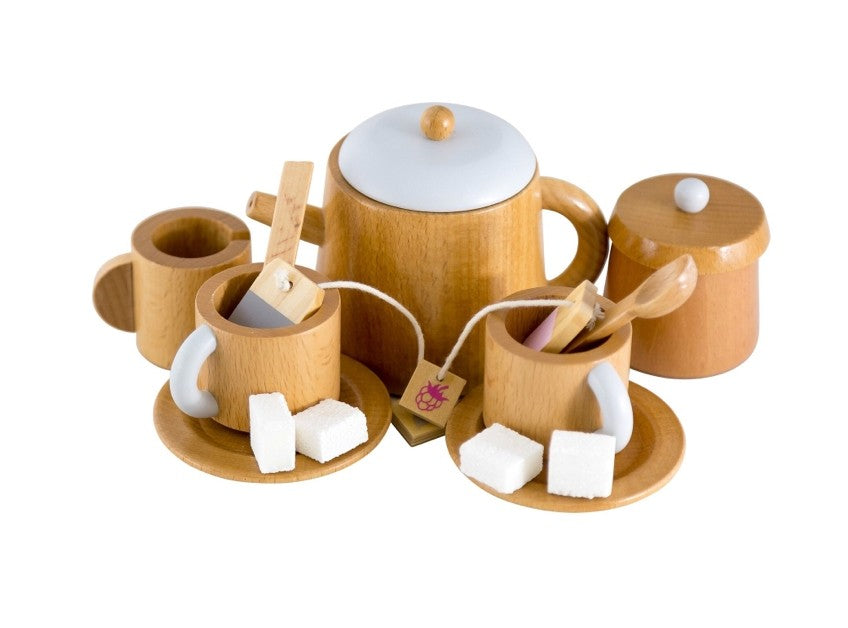 Traditional Wooden Tea Set