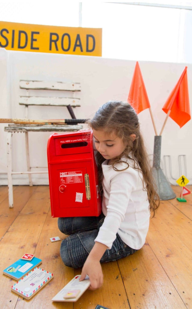 Iconic Wooden Post Box with Letters - SOLD OUT
