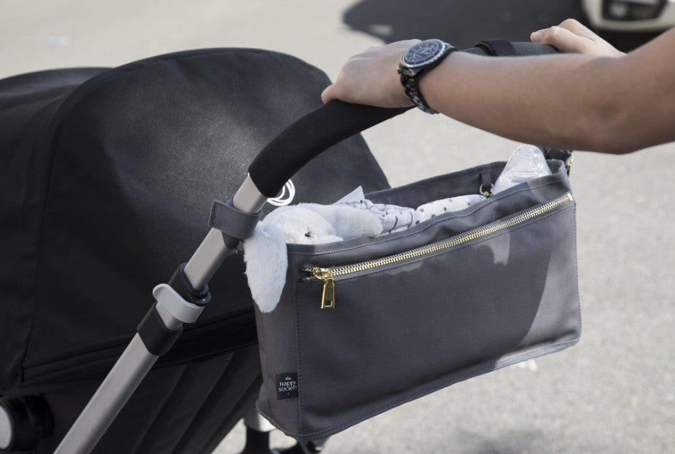 Pram Caddy - Grey