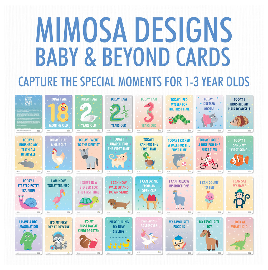 Toddler Milestone Cards: 1 to 3 years