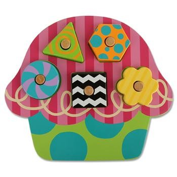 Cupcake Wooden Peg Puzzle