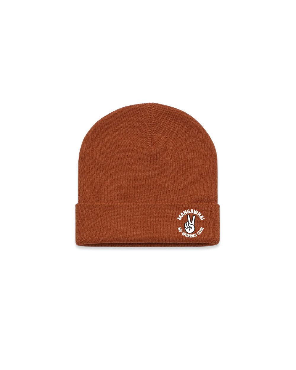 No Worries Rust Beanie - Threadbox