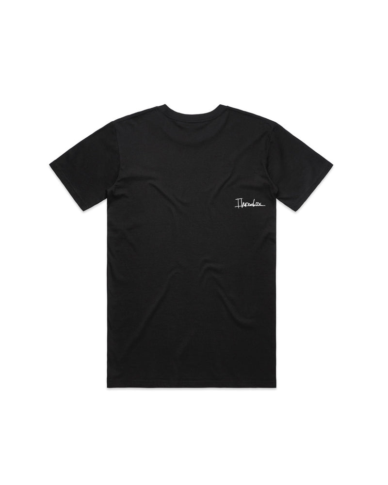 Mens Blurred Black Tee - Threadbox