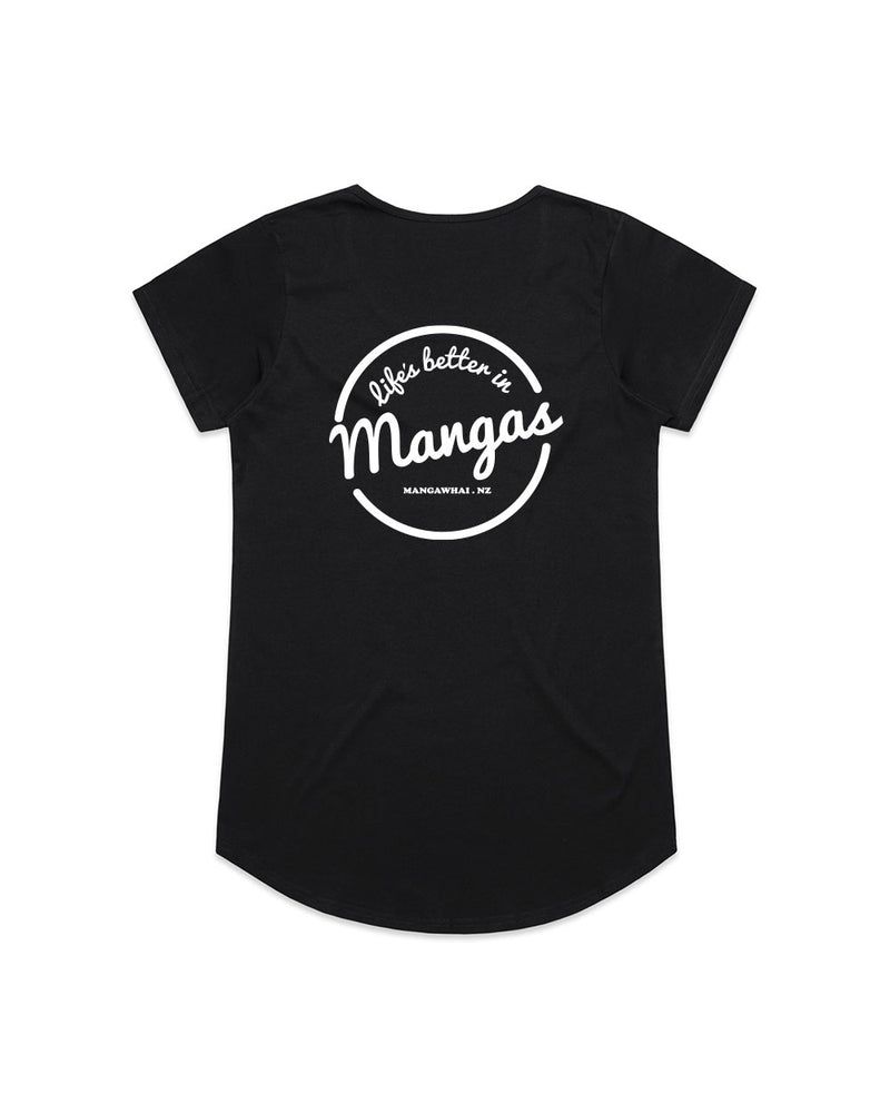 Ladies Life's Better Black Tee - Threadbox