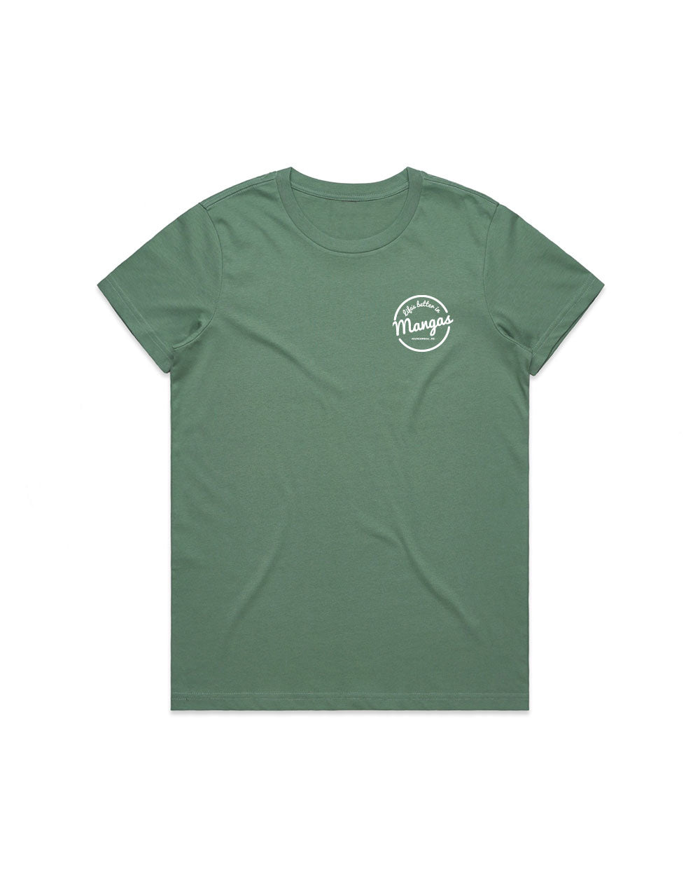 Ladies Life's Better Sage Tee - Threadbox