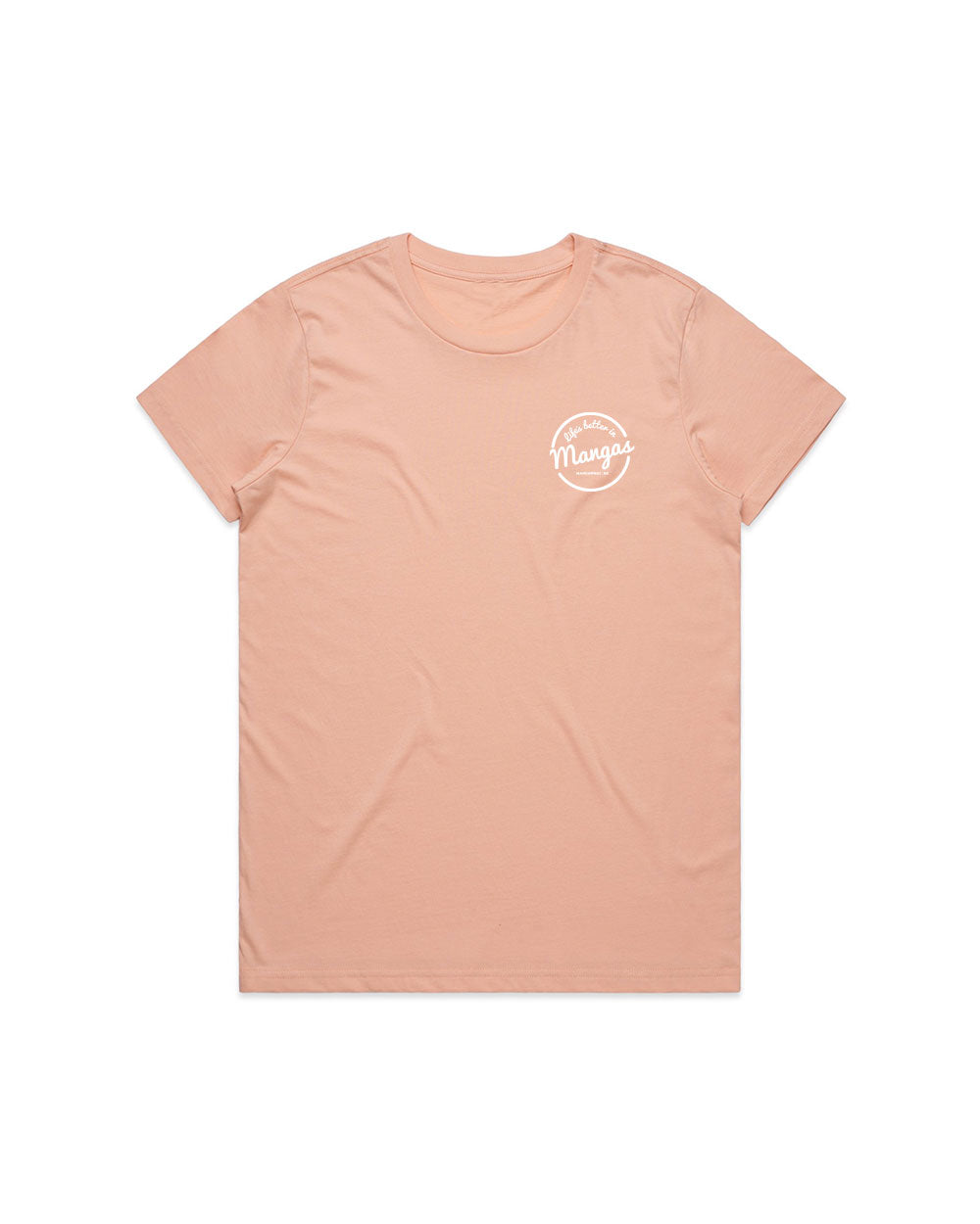 Ladies Life's Better Pink Tee - Threadbox