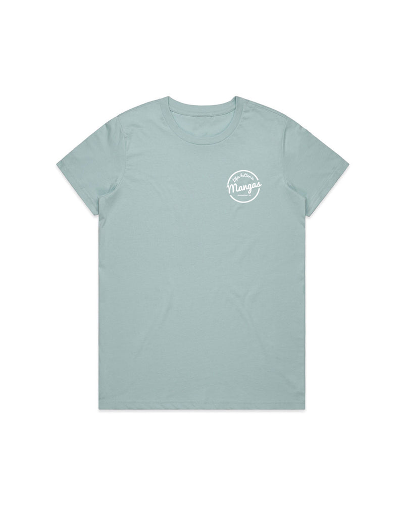 Ladies Life's Better Sky Tee - Threadbox