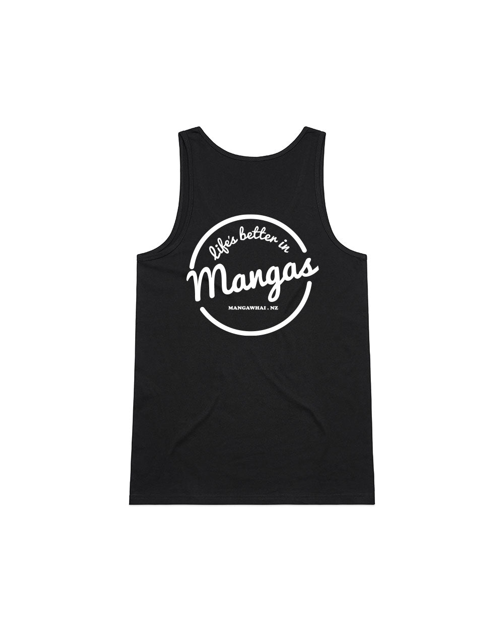 Ladies Life's Better Black Singlet - Threadbox