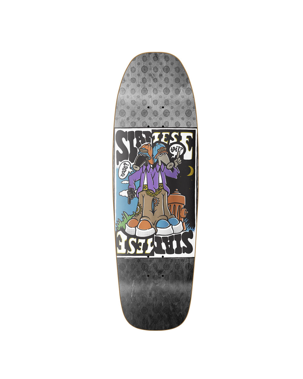 New Deal Siamese Doublekick Metallic Skateboard Deck - Threadbox