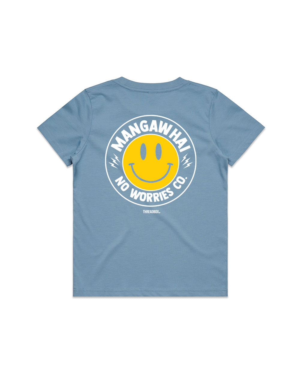 Kids No Worries Sky Tee - Threadbox