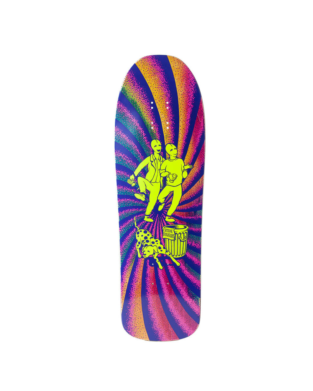 New Deal Douglas Chums Neon Skateboard Deck - Threadbox