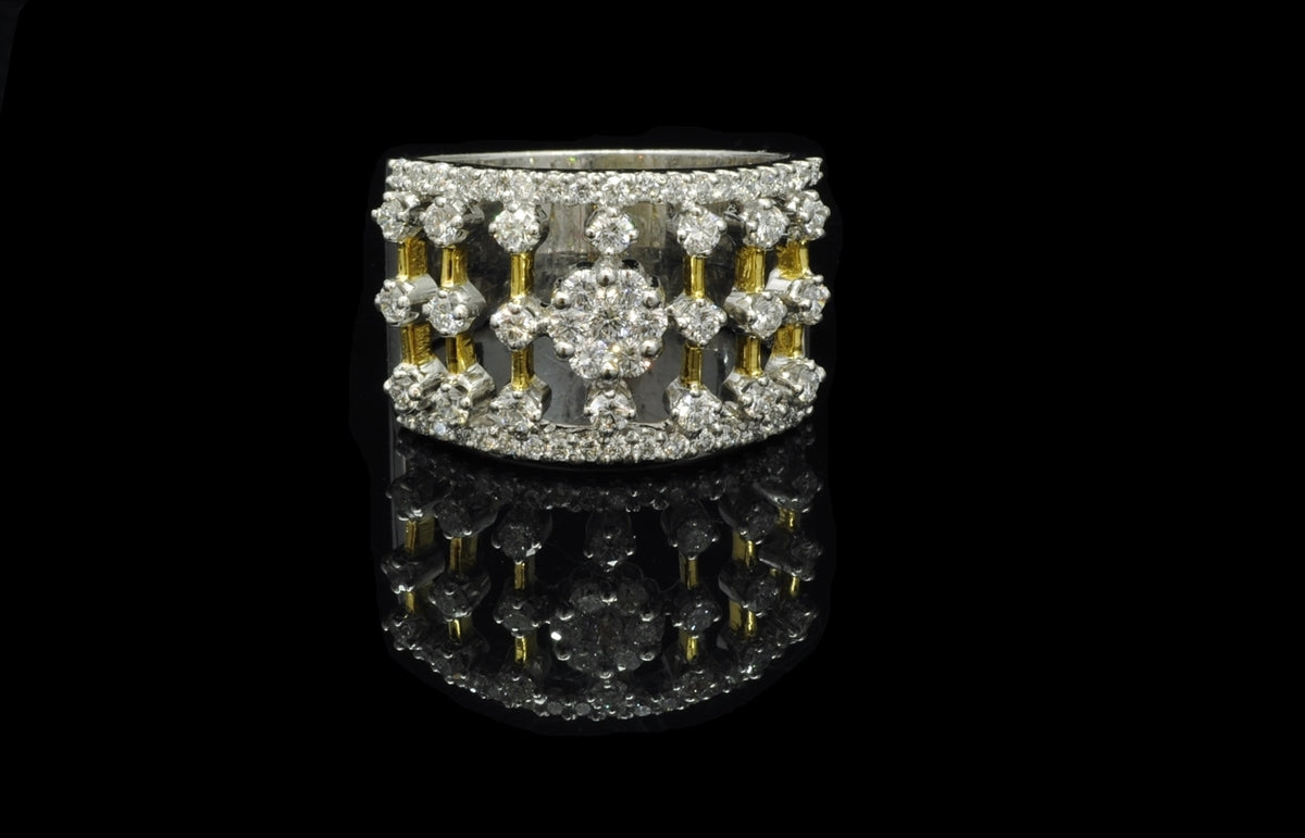 Diamond Two Tone Ring 18 Karat