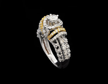 Diamond White Gold Ring 18 Karat