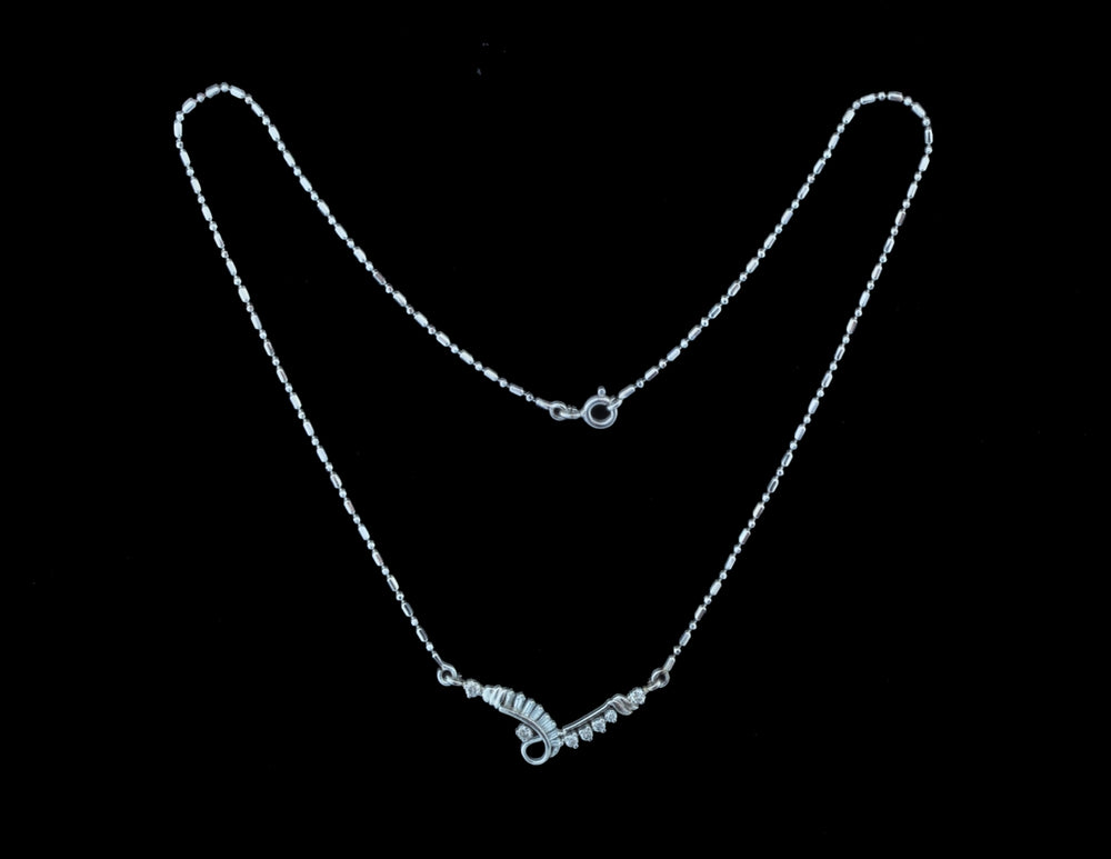 Diamond White Gold Necklace 18 Karat