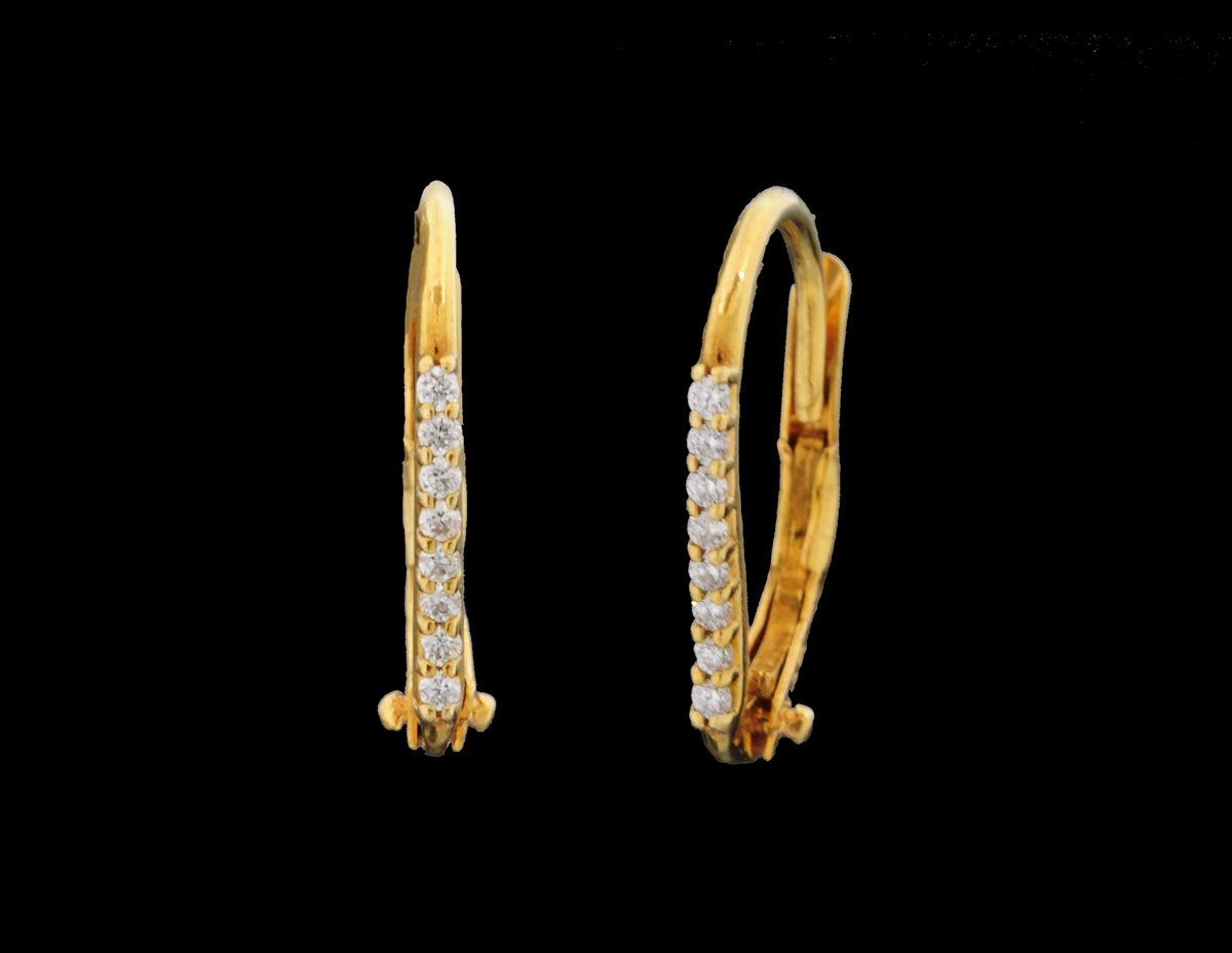 Diamond Hoop Earring 14 Karat