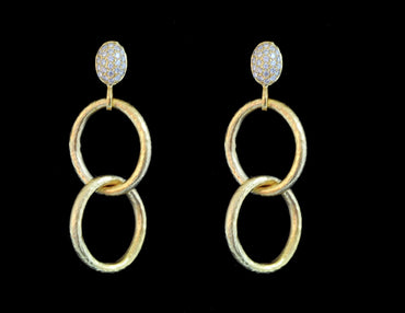 Marika Gold Diamond Earring 14 Karat