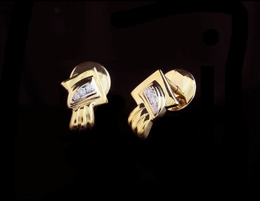 Diamond Gold Earrings 18 Karat