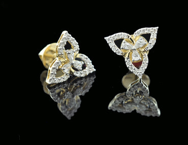 Diamond Gold Earring 18 Karat