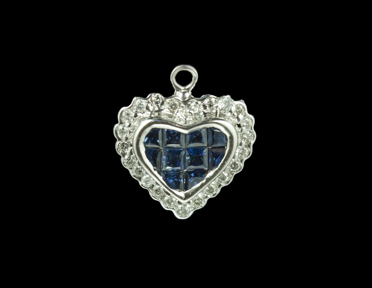 Diamond Heart Pendant 14 Karat