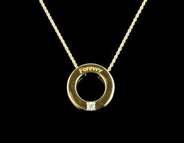 Diamond Necklace - 14 Karat Yellow Gold