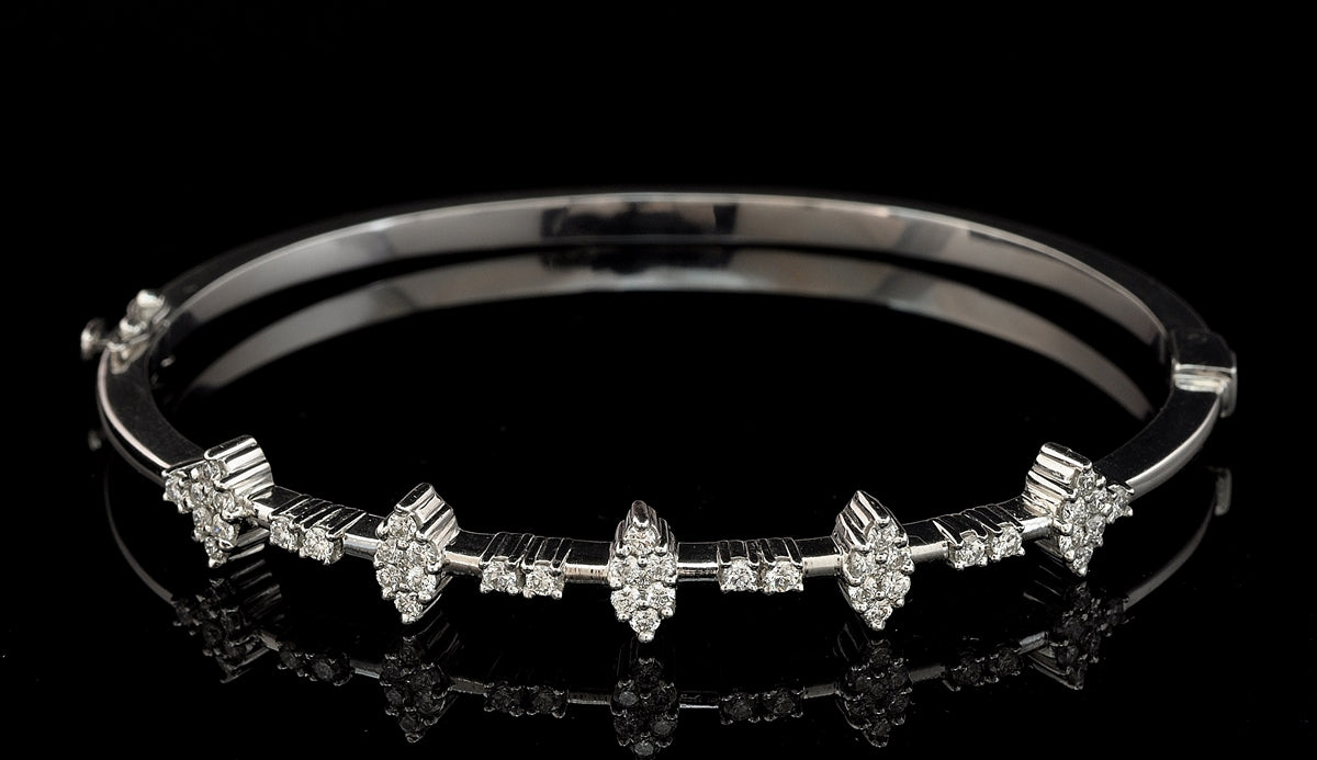 Diamond Bangle Bracelets 18 Karat