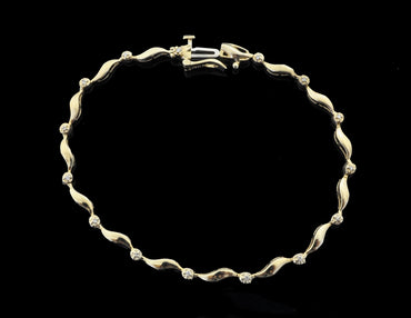 Diamond Gold Bracelet 14 Karat