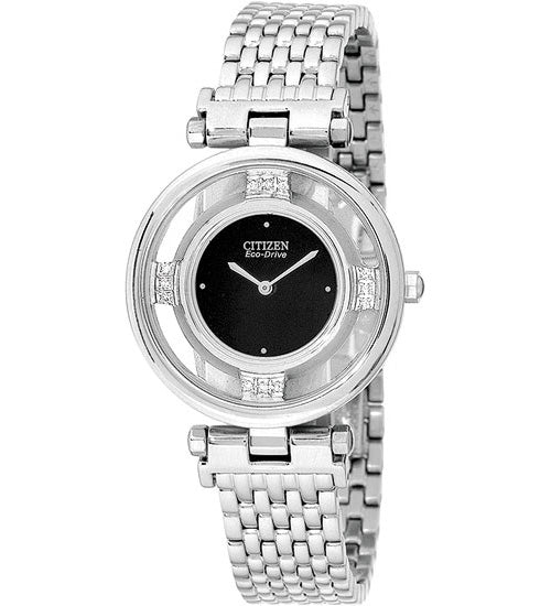 Citizen Women's Watch Diamond Stainless Steel Stiletto Bracelet EG3100-50E