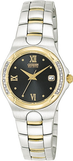 Citizen Women's Watch Two Tone Diamonds EW0244-52E