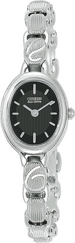 Citizen Women's Watch Stainless Steel Silhouette Black Dial EW8830-56E