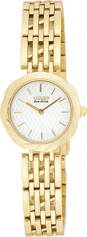 Citizen Women's Watch Gold Tone Stainless Steel Silhouette White Dial  EW8622-53A