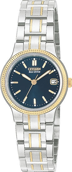 Citizen EW0474-52L Ladies Watch Cortina Two Tone Blue Dial