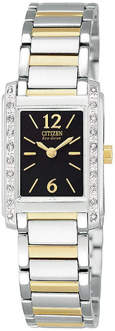 Citizen Women's Watch Stainless Steel Two Tone Eco-Drive  with Diamonds  EW9464-57E