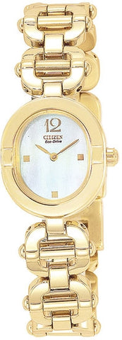 Citizen Women's Watch Gold Tone Stainless Steel EW8812-58D