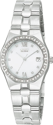 Citizen Women's Watch Diamond Riva White Dial EW0480-50A