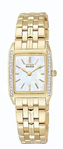 Citizen Women's Watch Gold Tone Stainless Steel EG3112-51D
