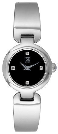 ESQ Women's Watch Love Knot Black Dial Diamond  07100922