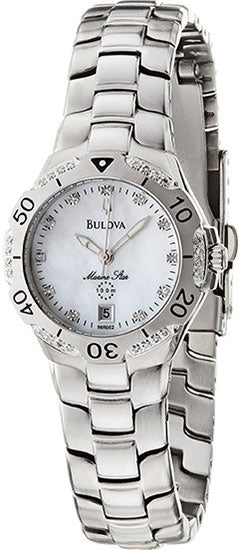 Bulova 98R002 Ladies Watch Marine Star Mother