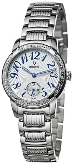 BULOVA 96R001 LADIES WATCH STAINLESS STEEL DIAMOND DRESS WATCH