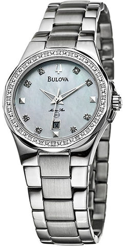 Bulova 96R58 Women's Watch Marine Star Mother of Pearl Dial with Diamonds