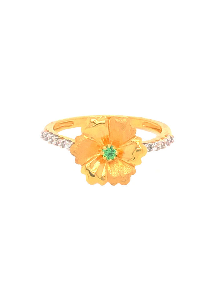 Gold Ring 22 Karat With Cubic Zirconia