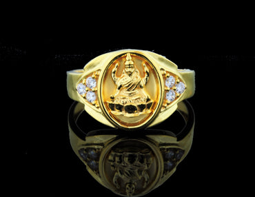 Gold Lakshmi Ring 22 Karat