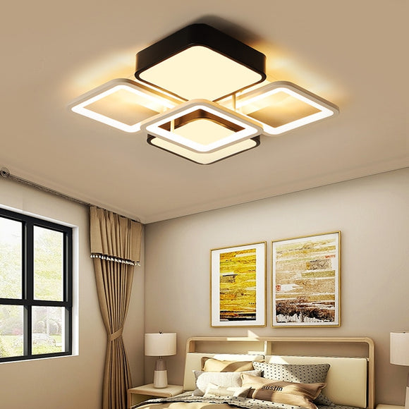 Modern led ceiling lights contemporary decorative fixtures Hotel dining  living room Indoor overhead bedroom square lighting