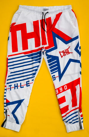 Athletic Retro Track Pants (White)
