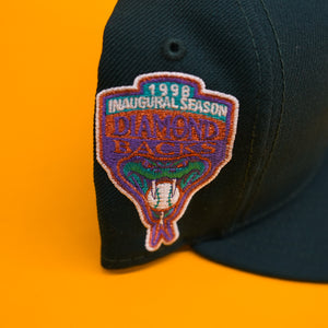"New Era Arizona Diamondbacks "" 1996 Inaugural Season Patch"" PINK UNDERBRIM"