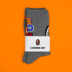 "A Bathing Ape "" Shark Socks"" Grey"