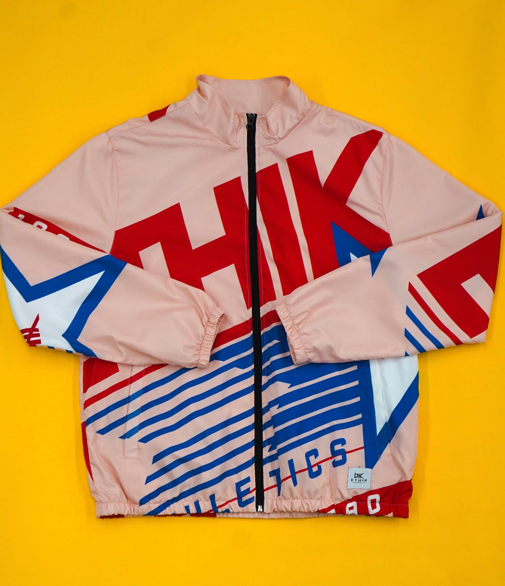 Athletics Retro Wind Breaker ( Salmon )