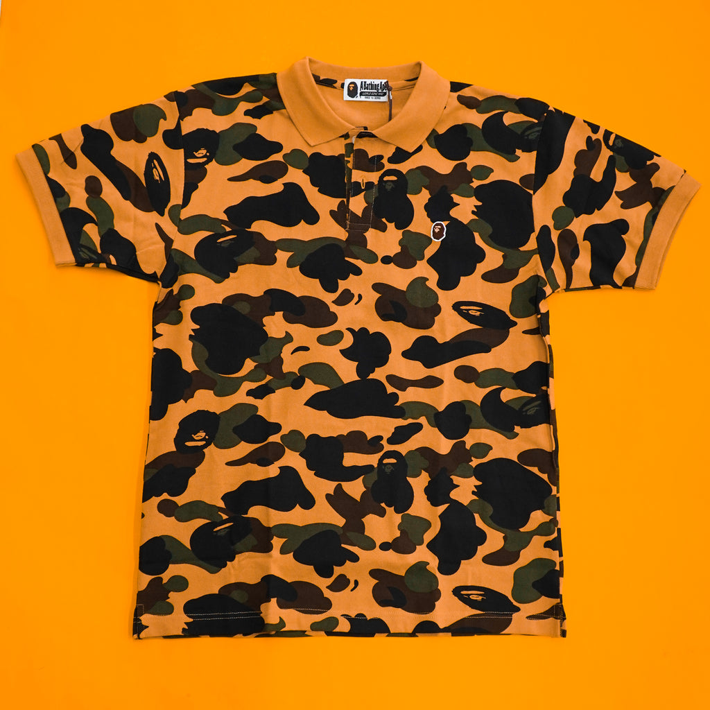 "A Bathing Ape ""Yellow Camo"" Polo"