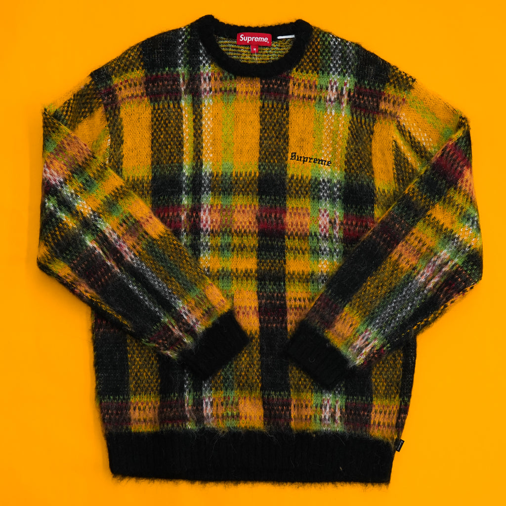 Supreme Brushed Plaid Sweater